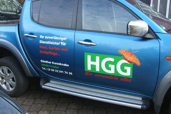 Fahrzeugbeschriftung Harisch