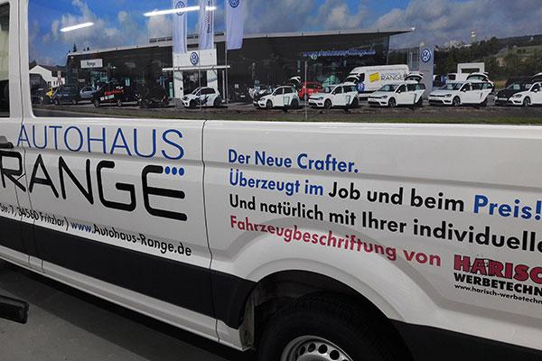 Fahrzeugbeschriftungen Harisch Werbetechnik
