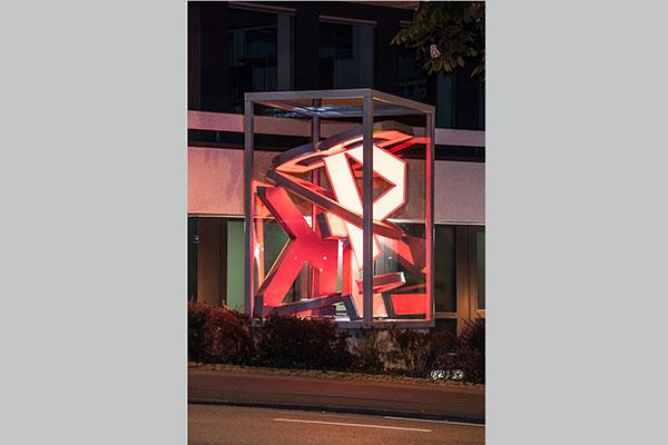 Kunstobjekt Harisch Werbetechnik